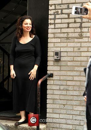 Fran Drescher - Fran Drescher waves to fans after her show 'Cinderella' at the Broadway Theater - New York City,...