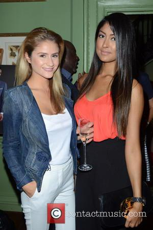 Eleni Griffith and Farah Sattaur - Aston Martin SS15 collection by Bespoke HQ - Launch Party at L'Escargot London -...