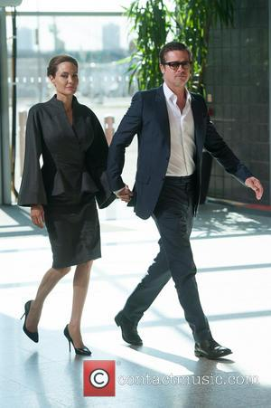 Angelina Jolie and Brad Pitt - End Sexual Violence in Conflict conference held at Excel. - London, United Kingdom -...