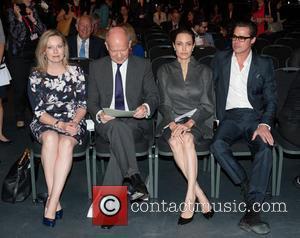 Angelina Jolie, Brad Pitt, Ffion Jenkins and William Hague
