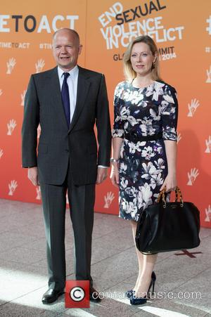 William Hague and Ffion Jenkins - End Sexual Violence in Conflict conference held at Excel. - London, United Kingdom -...