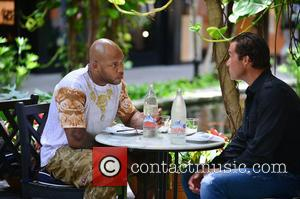 Flo Rida and Alfred Culbreth - Flo Rida and Alfred Culbreth spotted dining at Bal Harbour Shops - Miami, Florida,...