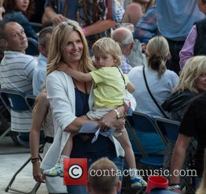 Penny Lancaster and Aiden Patrick Stewart - Rod Stewart performs live at Falmer Stadium in Brighton with his family in...