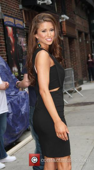 Nia Sanchez and David Letterman