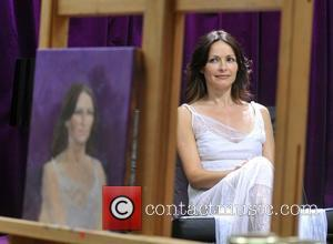 Sharon Corr - Irish celebrities Sharon Corr ,Colm Meaney and Neil Hannon sitting as models for the Irish heats of...