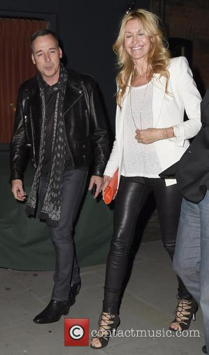 Elle Macpherson and David Furnish - Celebrities visit Chiltern Firehouse - London, United Kingdom - Sunday 15th June 2014