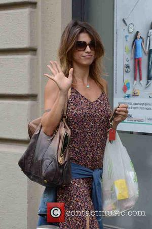 Elisabetta Canalis - Elisabetta Canalis arrives back at a private address after grocery shopping in Milan, Italy - Milan, Italy...