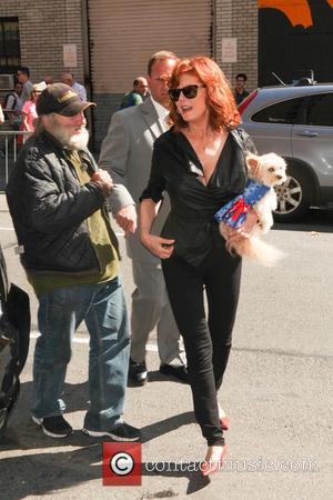 Susan Sarandon - Celebrities outside the Ed Sullivan Theater for their taping on the Late Show with David Letterman -...