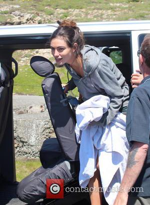 Phoebe Tonkin - Filming takes place for the upcoming movie 'Take Down' on location at the South Stack Lighthouse in...
