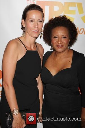 Wanda Sykes and Alex Sykes - The Trevor Project 2014 'TrevorLIVE NY' event at the Marriott Marquis Hotel - New...