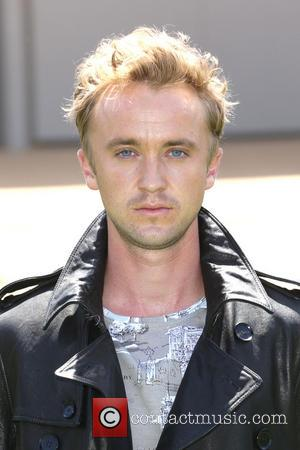 Tom Felton - London Fashion Week Men's Ready-To-Wear Summer 2015 - Burberry  Prorsum - Arrivals - London, United Kingdom...