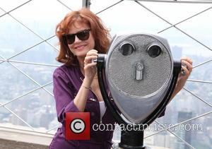 Susan Sarandon - Susan Sarandon lights the Empire State Building purple, blue and gold to celebrate the 15th anniversary of...
