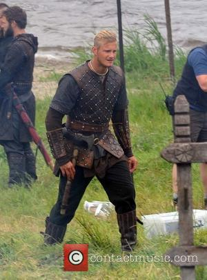 Alexander Ludwig - Filming takes place on Season 3 of The History Channel's 'Vikings' on location in County Wicklow. The...