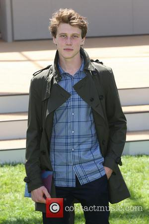 George MacKay - London Fashion Week Men's Ready-To-Wear Summer 2015 - Burberry Prorsum - Arrivals - London, United Kingdom -...
