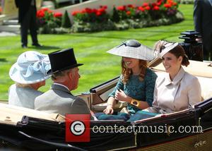 Princess Beatrice, Princess Eugenie, Prince Charles and Camilla Duchess Of Cornwall