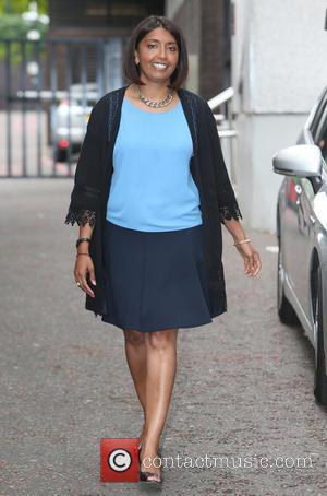 Sunetra Sarker - Sunetra Sarker outside ITV Studios - London, United Kingdom - Wednesday 18th June 2014