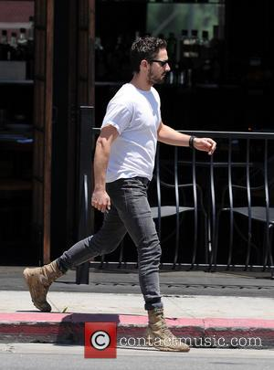 Shia LaBeouf - Shia LaBeouf out and about in Los Angeles sporting sunglasses and a Marc Buoniconti Fund t-shirt -...