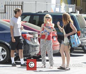 Gwen Stefani, Apollo Rossdale and Gavin Rossdale