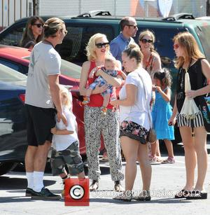 Gwen Stefani, Gavin Rossdale, Zuma Rossdale and Apollo Rossdale