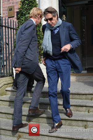 Bryan Ferry - Bryan Ferry at The Merrion Hotel before he plays the National Concert Hall tonight (19Jun14) - Dublin,...