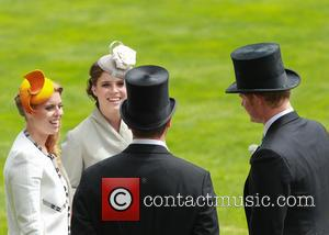 Princess Eugenie, Princess Beatrice, Prince Harry and Peter Phillips