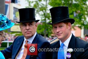 Prince Andrew, Duke Of York, Prince Harry and Queen Elizabeth Ii