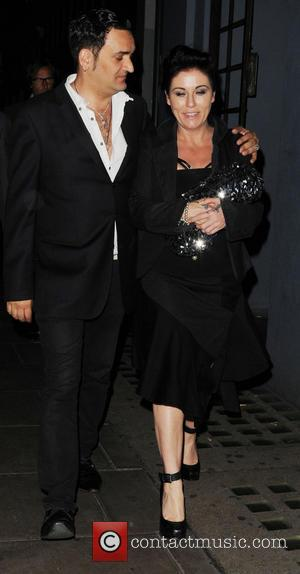 Jessie Wallace and Tim Arnold - Jessie Wallace spotted leaving the Groucho Club with her boyfriend Tim Arnold - London,...