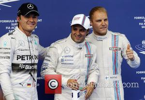 Nico Rosberg, Felipe Massa and Valtteri Bottas