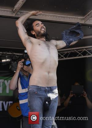 Russell Brand - Russell Brand gives a speech in Parliament Square for the People's Assembly - London, United Kingdom -...