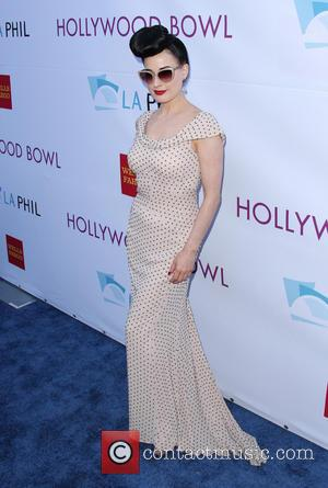Dita Von Teese - Hollywood Bowl Opening Night and Hall of Fame Inductions - Hollywood, California, United States - Saturday...