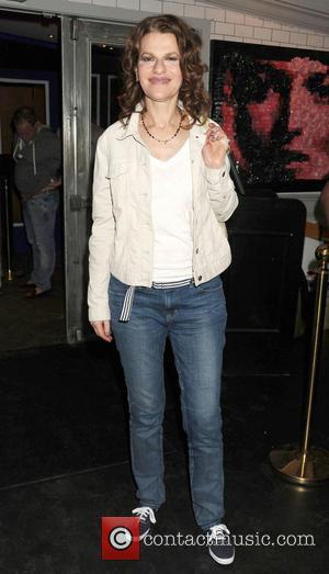 Sandra Bernhard - Sandra Bernhard celebrates at Sienna Restaurant & Ultralounge after performing her one woman show at Guild Hall...