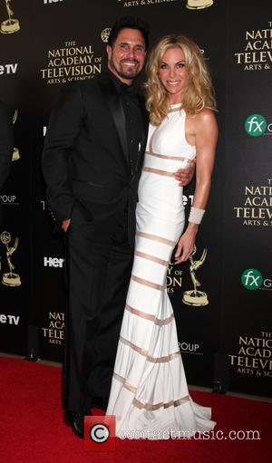 Don Diamont and Cindy Ambuehl - Daytime Emmy Awards 2014 held at The Beverly Hilton Hotel - Arrivals - Beverly...