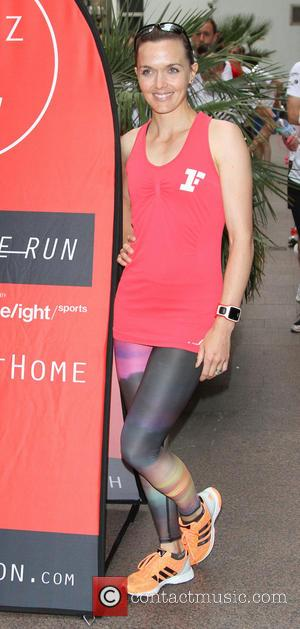 Victoria Pendleton - Fitness First Home Run - a six mile jog from Tottenham Court Road to Highbury Islington. -...