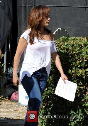 Leah Remini - Jennifer Lopez spotted filming reshoots in Los Angeles for her upcoming movie \The Boy Next Door\ with...
