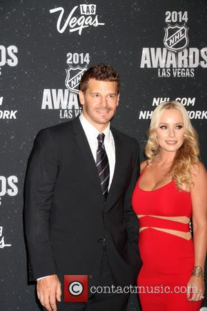 David Boreanaz and Jaime Boreanaz - 2014 NHL Awards held at the Wynn Showroom inside Wynn Las Vegas - Red...