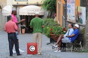 Magic Johnson and Samuel L. Jackson - Magic Johnson and Samuel L. Jackson relaxing in Portofino - Portofino, Italy -...