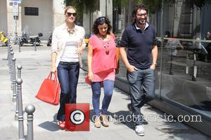 Michelle Hunziker - Michelle Hunziker out and about with friends at Cafè Trussardi - Milan, Italy - Tuesday 24th June...