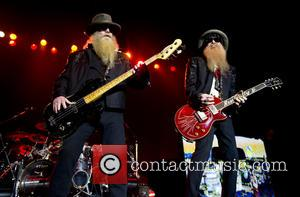 Billy Gibbons and Dusty Hill - ZZ Top performing live on stage at the Heineken Music Hall - Amsterdam, Netherlands...