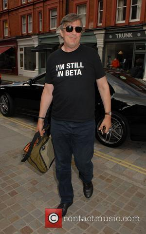 Stephen Fry - Celebrities at the Chiltern Firehouse restaurant in Marylebone - London, United Kingdom - Wednesday 25th June 2014