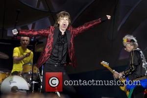 Charlie Watts, Mick Jagger and Ron Wood (The Rolling Stones) - The Rolling Stones performing in Madrid - Madrid, Madrid,...