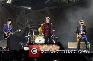 Ron Wood, Charlie Watts, Mick Jagger and Keith Richards (The Rolling Stones) - The Rolling Stones performing in Madrid -...