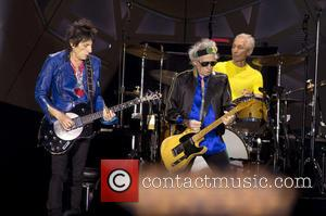 Ron Wood, Keith Richards and Charlie Watts (the Rolling Stones)