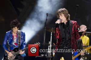 Ron Wood and Mick Jagger (The Rolling Stones)