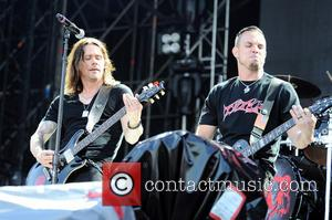 Miles Kennedy and Mark Tremonti - Alter Bridge performing live in concert at Fiera Milano Rho - Milan, Italy -...