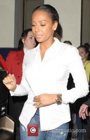Melanie Brown and Mel B - Melanie Brown leaving the theatre - London, United Kingdom - Wednesday 25th June 2014