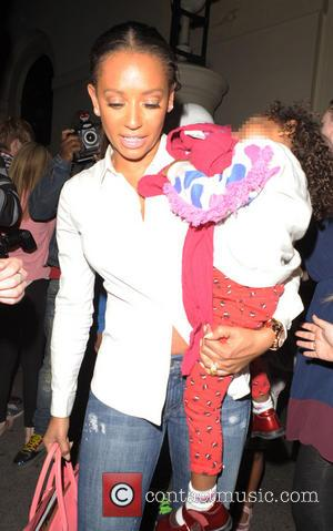Melanie Brown, Mel B and Phoenix Chi Gulzar - Melanie Brown leaving the theatre - London, United Kingdom - Wednesday...