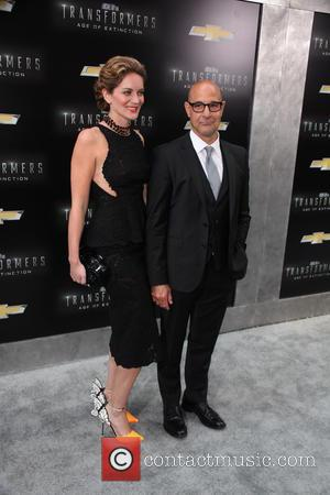 Stanley Tucci and Felicity Blunt - New York premiere of 'Transformers: Age Of Extinction' at the Ziegfeld Theatre - New...