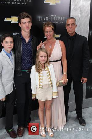 Titus Welliver and and Family - New York premiere of 'Transformers: Age Of Extinction' at the Ziegfeld Theatre - New...