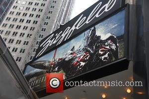 Marquee at Ziegfeld - New York premiere of 'Transformers: Age Of Extinction' at the Ziegfeld Theatre - New York City,...