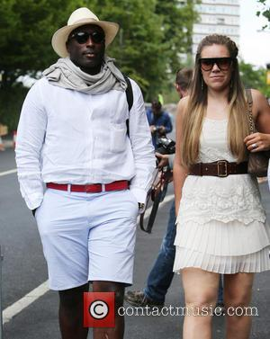 Sol Campbell, Fiona Barratt and Fiona Barratt-Campbell - 2014 Wimbledon Championships at the All England Club - Day 3 -...